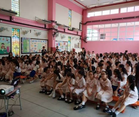 Artist sharing by ADA Angel Lee Hin at Holy Family Canossian School, on 24 June 2019 -